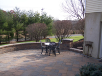 Raised Paver Patios